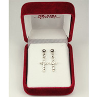 CROSS EARRINGS 8001