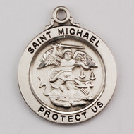 ST. MICHAEL STERLING SILVER MEDAL L636