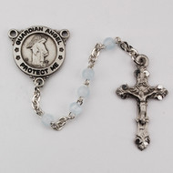 BLUE GUARDIAN ANGEL ROSARY R368DG