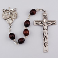 STERLING SILVER BROWN ROSARY R376LF