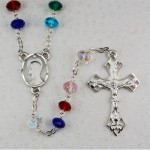 MULTI COLOR RHODIUM ROSARY