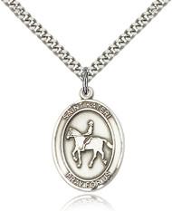 St. Kateri Sterling Silver Medal 7182-bliss