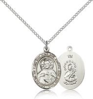 Scapular Medal Sterling Silver 8098-bliss