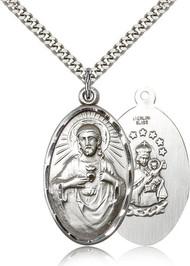 Scapular Medal Sterling Silver 1654-bliss
