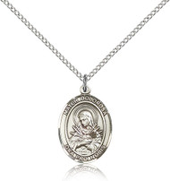Our Lady of Seven Sorrows Sterling Silver Medal 8290-bliss