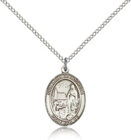 Our Lady of Lourdes Sterling Silver Medal 8288-bliss