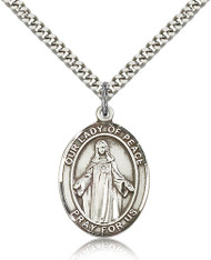 Our Lady of Peace Sterling Silver Medal 7245-bliss