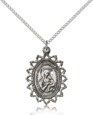 Our Lady of Perpetual Help Sterling Silver Medal 1619H-bliss