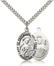 Our Lady of Perpetual Help Sterling Silver Medal 4022-bliss
