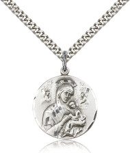 Our Lady of Perpetual Help Sterling Silver Medal 0567-bliss