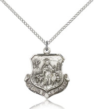 The Lord is My Shepherd Sterling Silver Medal 0345-bliss