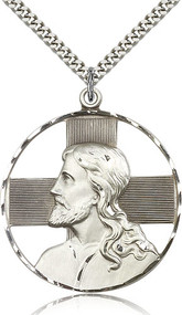 Christ Sterling Silver Medal 5848-bliss