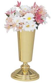 Solid Brass Altar Vase K254