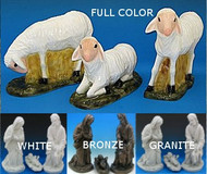 Outdoor Nativity Sheep (set of 3)