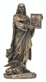 St. Luke the Evangelist with Ox, cold cast bronze