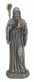 St. Benedict Statue, cold cast bronze