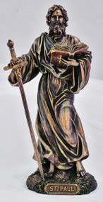 St. Paul Statue, cold cast bronze