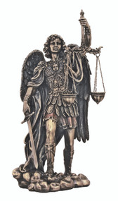St. Michael with the Scales of Justice Statue (bronze or pewter)