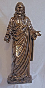 Welcoming Christ, large, cold cast bronze