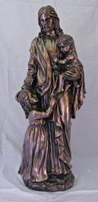 """Christ with Children (35""""--indoor/outdoor)"""