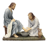Christ Washing Feet Statue (bronze or color)