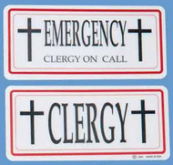 Clergy/Emergency Sign 3301