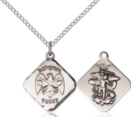 St. Michael National Guard Diamond Sterling Silver Medal