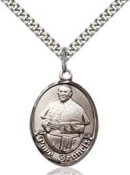 Pope Francis Sterling Silver Oval Medal 7451-bliss