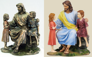 Christ with the Children Statue