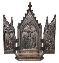 Crucifixion Triptych (bronze, pewter or color)