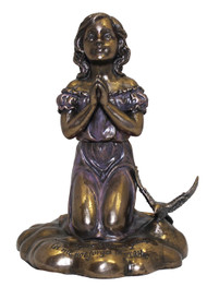 Kneeling Girl Praying Statue