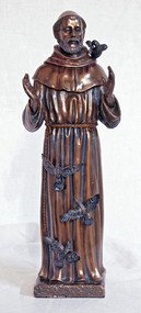 St. Francis Statue With Birds