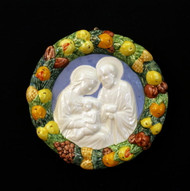"Holy Family Ceramic Wall Plaque - 4"" diameter"