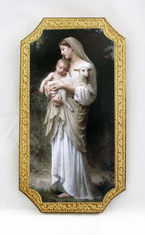 Innocence by Bouguereau Florentine Plaque