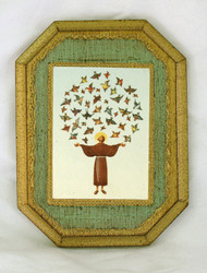 St. Francis With Birds Florentine Wall Plaque