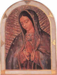 Our Lady of Guadalupe Florentine Plaque - Made in Italy