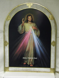 Divine Mercy Florentine Wall Plaque - Made in Italy