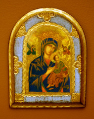 Our Lady of Perpetual Help Florentine Wall Plaque