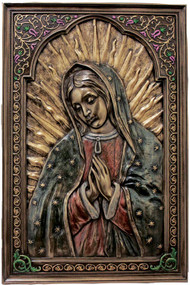 Our Lady of Guadalupe Florentine Wall Plaque