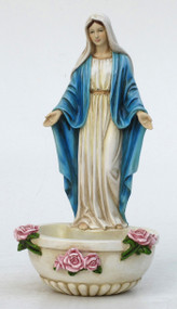 Lady of Grace Holy Water Font (bronze, color or white)