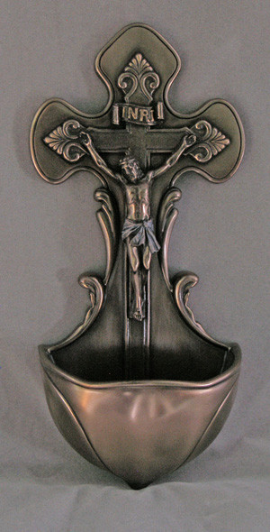 Crucifixion Font (bronze or antique finish)