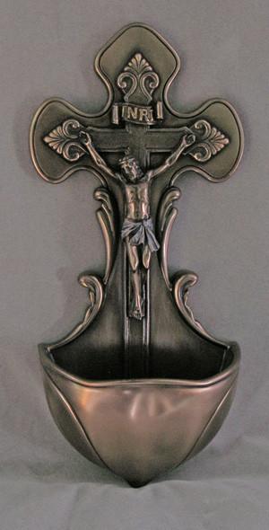 Crucifixion Font (bronze finish)