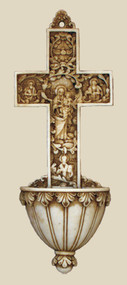 True Church Cross Holy Water Font