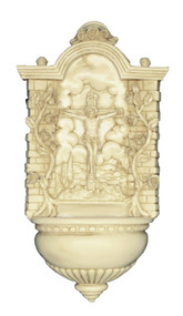 Antiqued Crucifixion Font - Made in Italy
