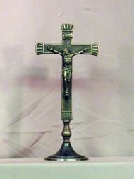Standing Antiqued Brass Crucifix FB-423