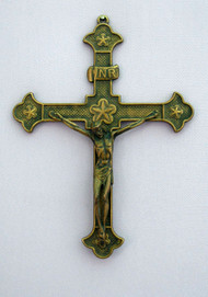 Antiqued Brass Crucifix - Made in Italy (131709)