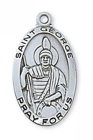 STERLING SILVER ST. GEORGE MEDAL
