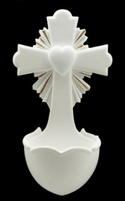 Crucifixion Heart Holy Water Font 75754-WG