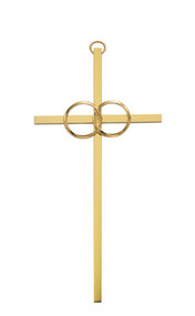 "WEDDING CROSS SILVER 8"" 71-44801"