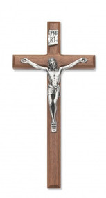 "8"" BEVELED WALNUT CRUCIFIX 80-02"